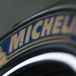 Logo pada ban Michelin. (Crash.net)