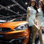Mitsubishi Mirage di Bangkok Motor Show 2016. (Liputan6.com)