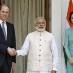 Pangeran William, PM India, dan Kate Middleton (Reuters)
