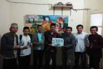 Rombongan Rumah Tahfidz Al Kautsar diterima Pemimpin Redaksi Harian Jogja, Anton Wahyu Prihartono beserta Redaktur Harian Jogja, Budi Cahyana. (Mediani Dyah Natalia/JIBI/Harian Jogja)