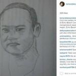 Sketsa wajah orang yang diduga menganiaya Tamara Bleszynski (Instagram.com)