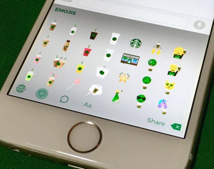 Starbucks Keyboard Emoji (Techcrunch)
