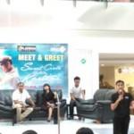 Sutradara Azhar Kinoi Lubis (kiri) bersama Fanda Mutiara, Gio Idol, dan Donny Damara dalam acara meet and greet di Atrium Hartono Lifestyle Mall, Selasa (12/4/2016). (Kharisma Dhita Retnosari/JIBI/Solopos)