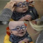 Reaksi lucu bayi saat kali pertama lihat wajah ibunya. (Istimewa/Facebook)