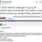 """PILGUB DKI JAKARTA : Sindir Ahok, Akun Jonru Ganti Teks """"Proklamasi"""" Jadi """"Reklamasi"""""""