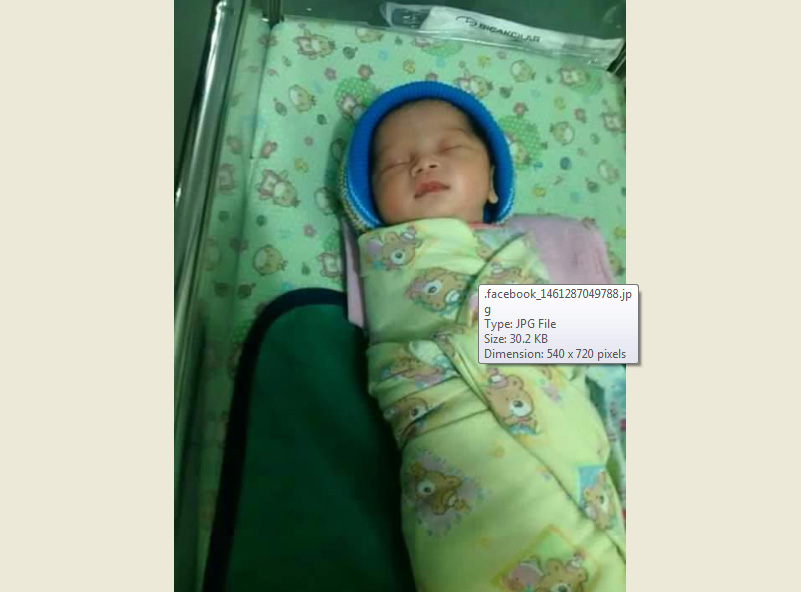 Bayi perempuan asal Magetan ini butuh donor ASI karena ibunya meninggal dunia. (Facebook-Paguma)