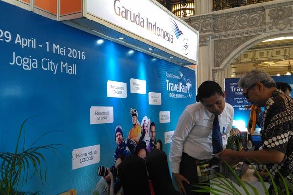 PT Garuda Indonesia (Persero) area Jogja menggelar Garuda Indonesia Travel Fair (GITF) 2016 di Atrium Jogja City Mall (JCM) Sleman, Jumat (29/4/2016). (Bernadheta Dian Saraswati/JIBI/Harian Jogja)