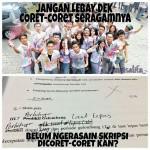 MEME LUCU : Kumpulan Meme Sindiran ke ABG yang Coret-Coret Seragam Sekolah