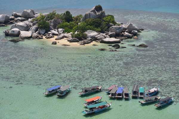 Panorama dari Mercusuar yang ada di Belitung. (Gilang Jiwana/JIBI/Harian Jogja)