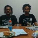 Dua aktivis yang ditangkap gara-gara kaus berakronim PKI. (JIBI/Detik)