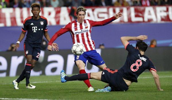 Atletico Madrid vs Bayern Munchen (Twitter)