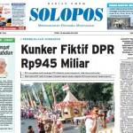 Halaman Depan Harian Umum Solopos edisi Jumat, 13 Mei 2016