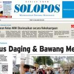 Halaman Depan Harian Umum Solopos edisi Rabu, 25 Mei 2016