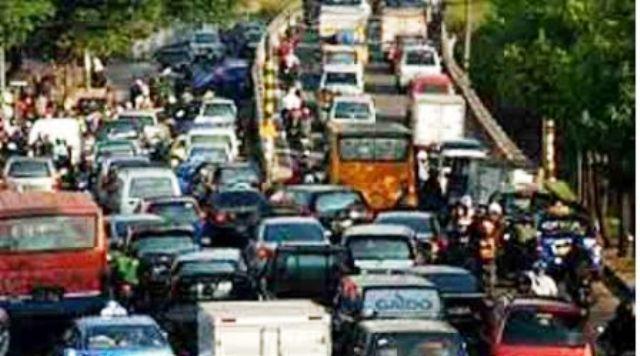 Ilustrasi kepadatan arus lalu lintas kendaraan. (JIBI/Kabar24/Dok.)