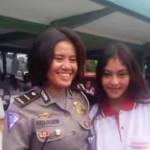 Ipda Perida Panjaitan dan Sonya Depari. (Instagram.com @Hermansams)