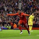 Sturridge merayakan gol (Twitter)