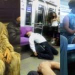 Momen-momen absurd di kereta. (Istimewa)