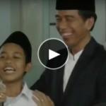 Jokowi dan santri. (Istimewa)