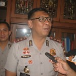 Kapolres baru Sukoharjo, AKBP Ruminio Ardano memberikan pernyataan pers kali pertama di Mapolres Sukoharjo usai lepas sambut di Mapolres Sukoharjo, Kamis (19/5/2016). (Trianto Hery Suryono/JIBI/Solopos)