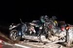 Mobil yang ditumpangi 5 WNI ringsek di Interstate 10, Hancock County, Mississippi, AS, Senin (2/5/2016) malam waktu setempat. (Istimewa/Sun Herald)