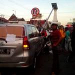 Kondisi usai kecelakaan di Tugu Jogja, Minggu (29/5/2016) pagi. (Gilang Jiwana/JIBI/Harian Jogja)