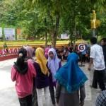 Para pengunjung objek wisata Waduk Gajah Mungkur (WGM) mendatangi Taman Tombo Galau, Minggu (22/5/2016). Pemerintah Kabupaten (Pemkab) Wonogiri berencana mengembangkan wahana baru di sekitar taman tersebut. (Istimewa)