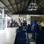 Penumpang menunggu bus di Terminal Purboyo Kota Madiun, Selasa (17/5/2016). (Abdul Jalil/JIBI/Madiunpos.com)