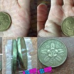 Uang receh Rp100 yang ternyata mirip uang koin di Singapura. (Istimewa)