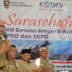 Wakil Bupati, M. Said Hidayat, menyampaikan sambutan di sela-sela Sarasehan Forum BKM Boyolali bersama Bupati dan SKPD, di Panti Marhaen, Senin (13/6/2016). (Hijriyah Al Wakhidah/JIBI/Solopos)