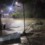 Foto banjir di timur PKU Muhammadiyah Karanganyar. (Istimewa/Wagiman)