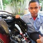 SEPEDA MOTOR HONDA: Pakai Alat Ini, Siswa SMK Bikin Scoopy Makin Irit BBM