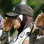 Ilustrasi wanita polisi berjilbab. (JIBI/Solopos/Antara/Irwansyah Putra)