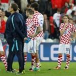 Timnas Kroasia setelah dikalahkan Portugal di babak 16 Besar Piala Eropa 2016. (REUTERS/Carl Recine)