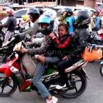 Mudik menggunakan sepeda motor. (Okezone.com)