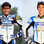 Pembalap Indonesia Galang Hendra (kiri) dan Imanuel Putra (kanan). (Yamaha-racing.com)