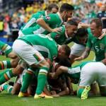 Republik Irlandia merayakan gol di Piala Eropa 2016. (REUTERS/Darren Staples)
