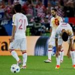 Spanyol saat dikalahkan Kroasia di fase grup Piala Eropa 2016. (REUTERS/Sergio Perez)