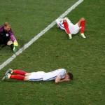 Timnas Inggris setelah dikalahkan Islandia di babak 16 besar Piala Eropa 2016. (REUTERS/Yves Herman)