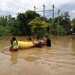 BANJIR KARANGANYAR : Luapan Bengawan Solo di Jaten Tak Juga Surut, 34 KK Masih Mengungsi
