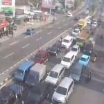 Arus lalu lintas di simpang Kentungan Sleman. (Akun twitter @ATCS_DIY)