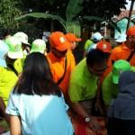 Suasana kunjungan pejabat pemerintah kabupaten/kota se-Indonesia bagian barat di Ipal Komunal, Mendiro, Sukoharjo, Ngaglik, Sleman. (Istimewa)