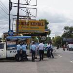 Dishubkominfo Kulonprogo mulai mempersiapkan posko pemantauan arus lalu lintas jelang Lebaran di depan SPBU Wates pada Selasa (28/6/2016). (Sekar Langit Nariswari/JIBI/Harian Jogja)