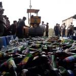 RAZIA BOYOLALI : Sisir 4 Desa, Polsek Ngemplak Sita Ratusan Liter Miras