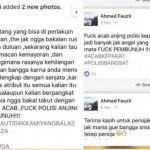 Status Facebook Ahmad Fauzii yang screenshootnya beredar di media sosial. (Twitter)