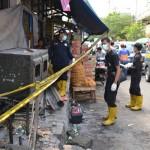 Tim Laboratorium Forensik Mabes Polri Cabang Semarang melakukan olah TKP di toko saerah yang terbakar habis pada Selasa (28/6 ) malam. Olah TKP digelar Kamis (30/6/2016). (Mayang Nova Lestari/JIBI/Harian Jogja)