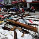 Pemandangan di Taitung, Taiwan, Sabtu (9/7/2016), usai terjangan badai Nertapak. (JIBI/Reuters/Tyrone Siu)