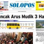 Halaman Depan Harian Umum Solopos edisi Jumat, 1 Juli 2016