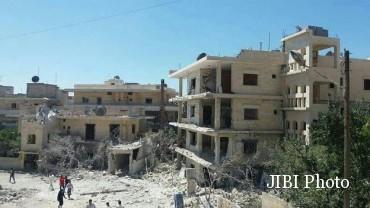 Rumah sakit Save The Children di Idlib. (Twitter.com @SaveUKNews)