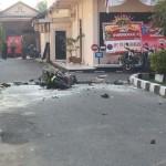BOM SOLO : Terduga Pelaku Menerobos Penjagaan Provost Mapolresta