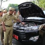 PEMKAB KARANGANYAR : Gelar Apel Kendaraan, Bupati: Air Radiator Sejumlah Mobil Dinas Kering